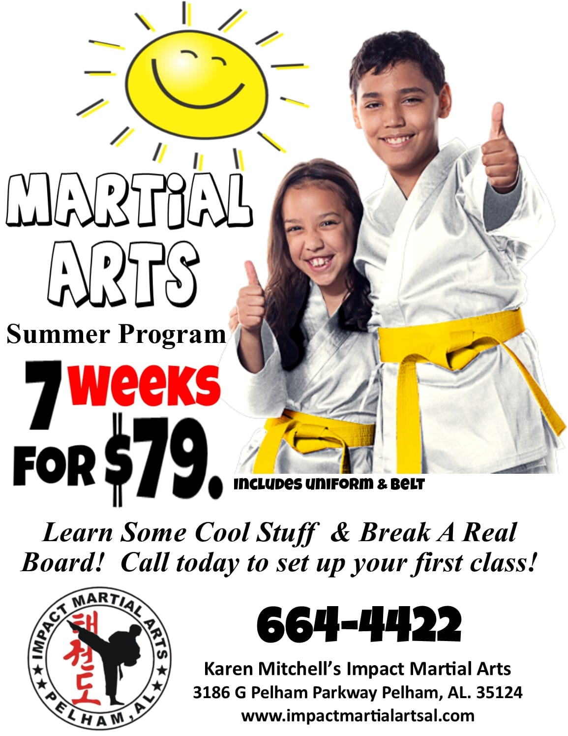 Impact Martial Arts Summer Program 2018